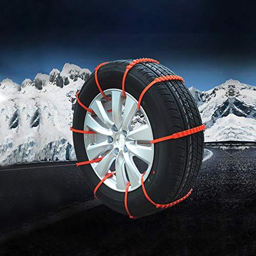 soyond Snow Tire Chains Car Anti Slip Tire Snow Chains (Black)