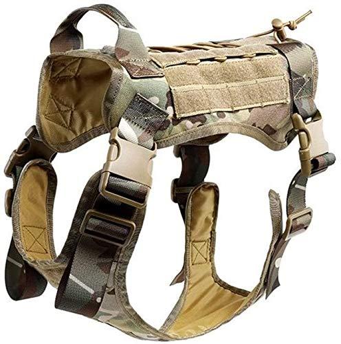 Coole atletiek 1000D nylon hond modulaire tactische vest harnas zoektocht naar een baan Moore, clip voordat papier geen rechtshandhaving training hjm zhanshubeixin (Color : MC Camo, Size : XL)