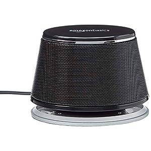 AmazonBasics - PC-Lautsprecher mit dynamischem Sound, USB-Betrieb, Schwarz, 1 Paar
