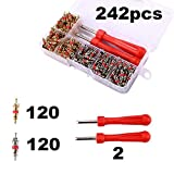 242pcs set R134A Valve Cores + Remover Tool Kit For Car A C Air Conditing