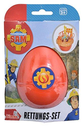 Simba 109251030 - Feuerwehrmann Sam Rettungsset Norman im Ei