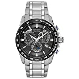 Citizen Men's Eco-Drive Titanium Perpetual Chrono Atomic Timekeeping Watch with...