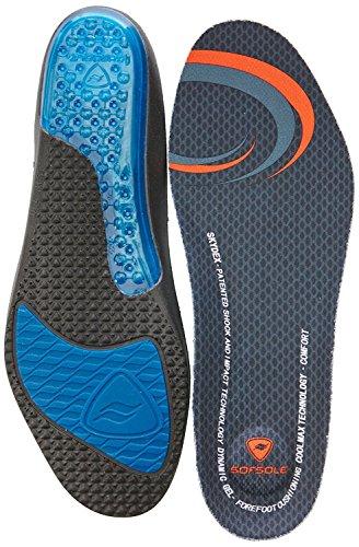 SofSole Airr Komfort Sport-Geleinlage mit Luftkissen-Fersendämpfung für höchsten Laufkomfort Damen Herren + gratis 1p Sportsocken (Herren 45-46)