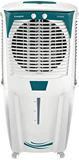 Crompton Ozone 88-Litre Inverter Compatible Desert Air Cooler with Honeycomb Pads for Home and Commercial (White and Teal)