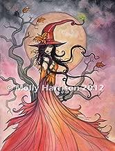 Autumn Magic - Fine Art Halloween Witch Print by Molly Harrison