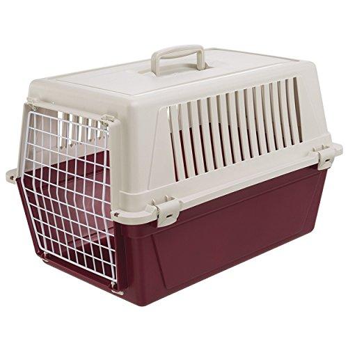 Ferplast Atlas 20 Hunde- und Katzenbox, inklusive Kissen und Napf