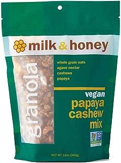 Milk and Honey Granola, Vegan Papaya Cashew Mix, Non-GMO 12oz / 6 pack