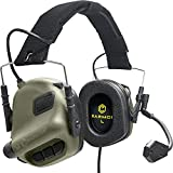 EARMOR Tactical Headset Hunting & Shooting Earmuffs with Microphone, Sound Amplification, Nato TP120 Jacket, Green
