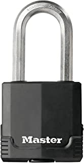 MASTER LOCK Heavy Duty Padlock [Key] [Covered Laminated Steel] [Weatherproof and Rustproof] [Large Shackle] M515EURDLH - B...