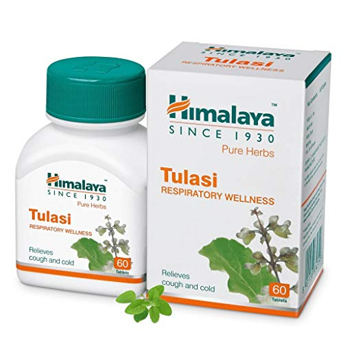 Himalaya Wellness Pure Herbs Tulasi Respiratory Wellness | Holy Basil |Relieves cough and cold| - 60 Tablets