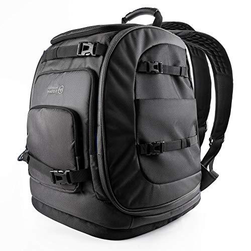 OutdoorMaster Boot Bag, 65L Waterproof Ski Snowboard Boots Air Cushion Shoulder Pad Skiing Gear Bag Travel Backpack for Ski Helmets, Goggles&Accessories Men&Women-Black