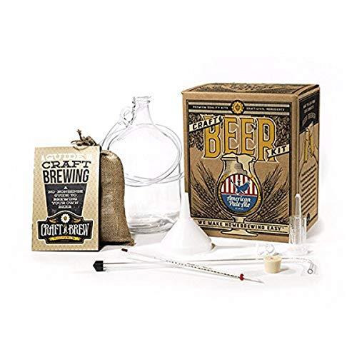 Craft A Brew BK-APA American Pale Ale Beer Kit wiederverwendbar Bier selber machen-Starter Set 1 Gallone, Glas