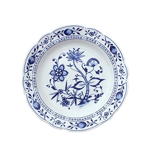 Triptis 1350380670122116 Romantika Zwiebelmuster Suppenteller, Ø 22 cm, Porzellan, weiß/blau (2 Stück)