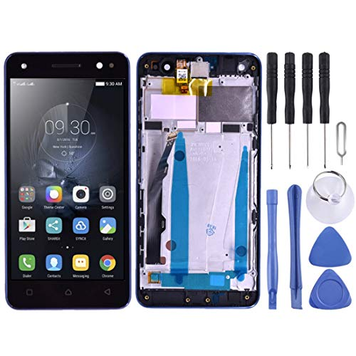 Todayday Easy Replacement Tool Replacement LCD Screen+Touch Screen and Digitizer Full Assembly with Frame for Lenovo Vibe S1 Lite S1LA40(Black) (Color : Black)