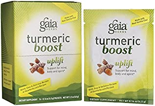 GAIA HERBS Turmeric Boost Uplift Single Serve Supplements, 0.11 Pound