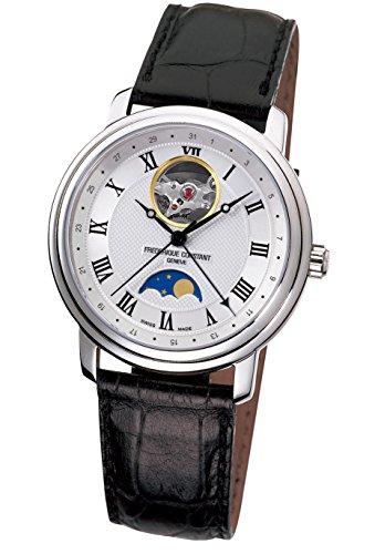 FREDERIQUE CONSTANT Unisex Mondphase Automatik Uhr mit Leder Armband FC-335MC4P6