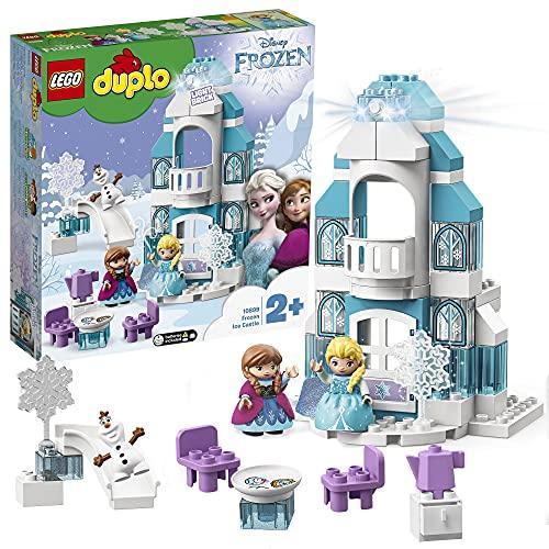 LEGO DUPLOPrincess IlCastellodiGhiacciodiFrozen, Set con Mattoncino Luminoso,Mini-doll della Principessa Elsa e di Anna e Figura del Pupazzo di Neve,per Bambini e Bambine di2 anni, 10899