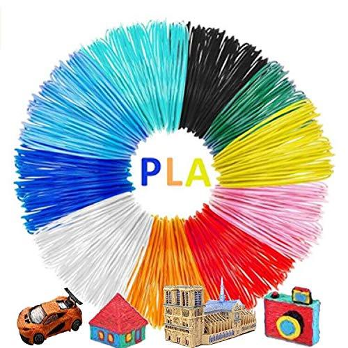 3D Pen Filament AveyLum 10 Packs 1.75mm 3D Print PLA Filament Refills 16ft Colorful 3D Printer Filaments