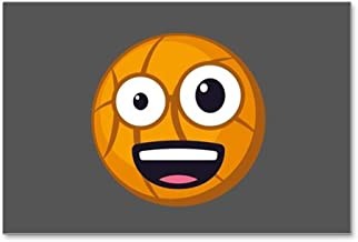 CafePress Basketball Wacky Emoji Postcards (Package of 8), 6
