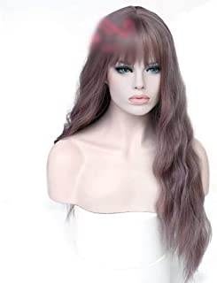 Bangs Daily Party Dress Wig Women's Long Curly Hair with Hair,Hairpieces (Color : Photo Color)