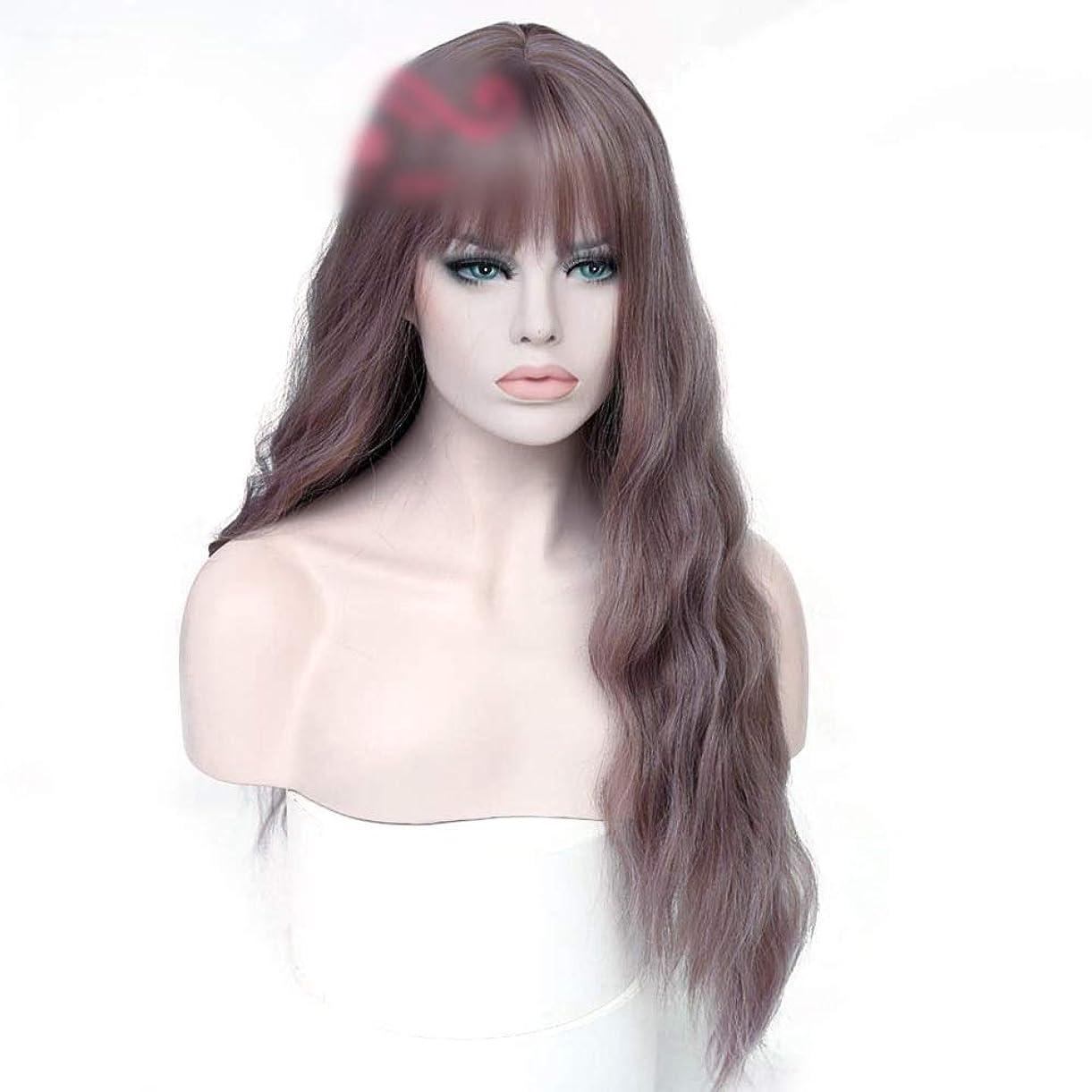 反発人間避けるWASAIO 毎日のヘアバンの女性の長い巻き毛 (色 : Photo color)