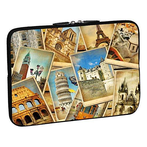 Pedea Design Schutzhülle Notebook Tasche (15,6 Zoll, Vintage travel)