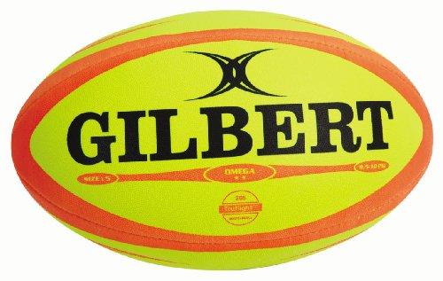 Gilbert Herren Rugbyball Omega Match Fluoro Size 4