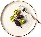MYPNB Tazón Placa de Frutas, japonés Retro Sushi Cubiertos, Bandeja de cerámica, Western Restaurante Steak Plate, Hotel Restaurante la Placa de Postre (Color : One)
