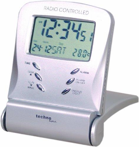 Technoline, WT 171 Reisewecker WT 171 mit Funkuhr, Innentemperaturanzeige sowie Datums- und Wochentagsanzeige
