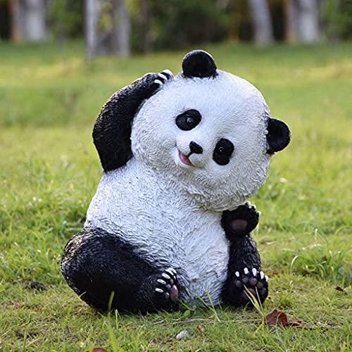 Estatua de jardín Adornos de resina a prueba de agua al aire libre Estatua de panda Adorno de jardín o estanque de resina, Simulación Animal Estatua al aire libre Accesorios Decoración para ja