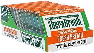 TheraBreath, Fresh Breath, Sugar Free Chewing Gum, Mild Vanilla Mint Flavor, 12 Pieces