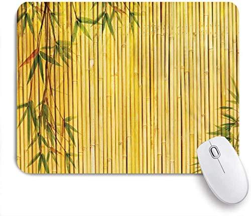 Personalisierte rechteckige Mauspad, Hintergrund mit Ästen Exotische Pflanzen Asiatische Flora Kunstwerk, Tischsets, Gaming Office Decor,