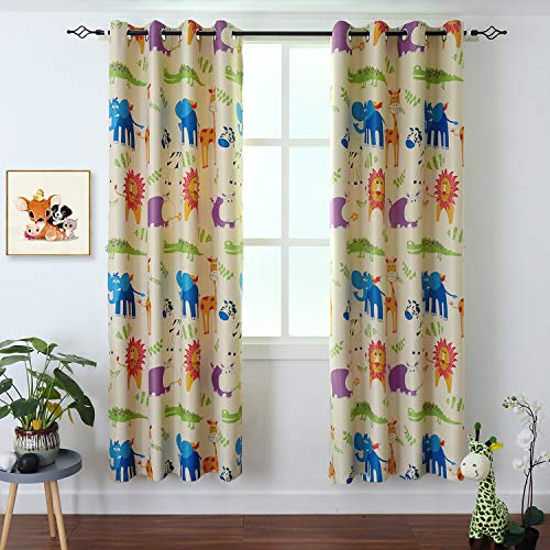 BGment Kids Blackout Curtains - Grommet Thermal Insulated Room Darkening Printed
