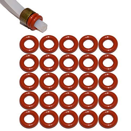 SW-K Lot de 25 joints pour tuyau d'arrosage 4 mm Convient pour Saeco Philips Siemens Bosch Krups Spider Gaggia Miele Solis König Rotel Satrap TurMix Jura Delonghi Melitta AEG Neff Gaggenau