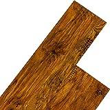 STILISTA Vinyl Laminat Dielen, 15 Dekors wählbar, 5,07m² oder 20m², rutschfest, wasserfest, schwer entflammbar - 5,07m² Walnuss rustikal rotbraun