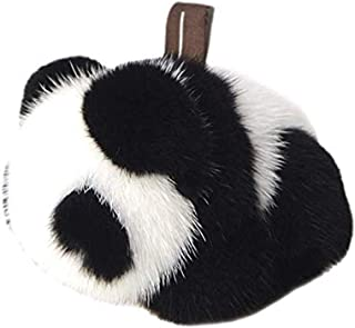 DELORESDKX Mink Fur Keychains, Women Fluffy Panda Bunny Key Chains Bag Charm Keyring for Handbags Car Decoration