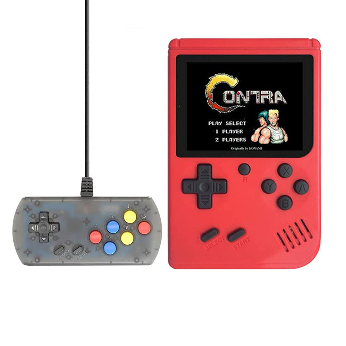CreazyBee 2019 New 3.0 Inch 168 Retro Games Handheld Game Player As A Gift for Children (Red)