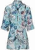 Peter Hahn Kurzarmbluse Tunika-Bluse mit 3/4 Arm Keine Besonderheiten Damen