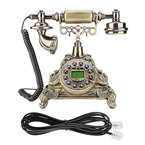 YUN Teléfono Antiguo De Imitación De Estilo Europeo Retro Vintage para Oficina En Casa MS-5501A