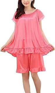 e44636e1aff Mujer Pijama De Dos Piezas Talla Grande Camisetas Manga Corto Pantalones  Cortos