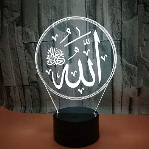 3D Illusion Lampen Islam Nachtlicht LED Lampe 7 Farben Touch-Schalter USB Power Schlafzimmer Beleuchtung Tischlampe für Kinder Geschenke Haus Dekoration