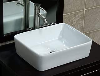 Bathroom Ceramic Porcelain Vessel Vanity Sink 7050L3 combo+ free brushed nickel faucet, Pop Up Drain with no overflow