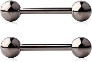 Grade 23 Titanium Externally Threaded Nipple Shield Barbell Ring Bar Body Piercing 14G 16G 2-6PCS