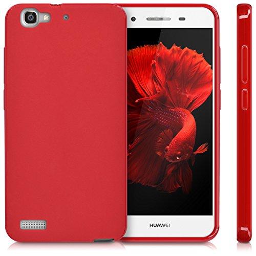 kwmobile Huawei GR3 / P8 Lite SMART Hülle - Handyhülle für Huawei GR3 / P8 Lite SMART - Handy Case in Rot matt - 5