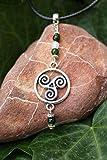 Colgante celta con el símbolo del triskel, Collar espiritual, Colgante de protección, Druida, Símbolos sagrados, Símbolo del trisquel, Joyas espirituales, Regalo celta, Amuleto, Talismán