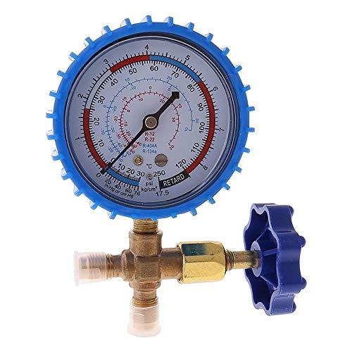 JINKEBIN Medidor de presión 1pc 220psi 500 psi Aire acondicionado Refrigerante Recarga de presión Manómetro Manómetro (Color : Blue)