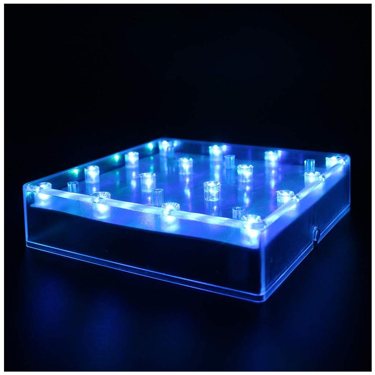 経験的無一文創始者ARDUX 基準光の花瓶の基部5平方インチ16 LEDバッテリータイプ、結婚式テーブル目玉照明の装飾花瓶(1個、マルチカラー) 1個入 マルチカラー