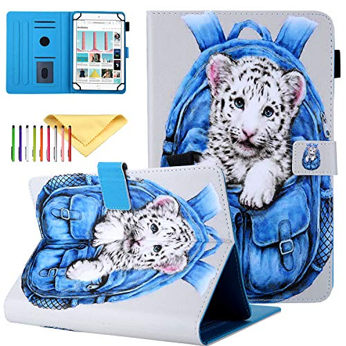 Uliking - Custodia universale per tablet Samsung Galaxy, Apple iPad, Amazon Kindle, Google Nexus e altri tablet da 6,5-10,5 pollici For 9.5-10.5 inch tablet #01 Tigre