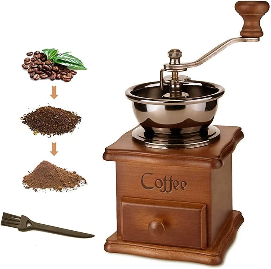 Manual Coffee Grinder Vintage Tucson Mall Wooden Max 65% OFF Style Grind Antique