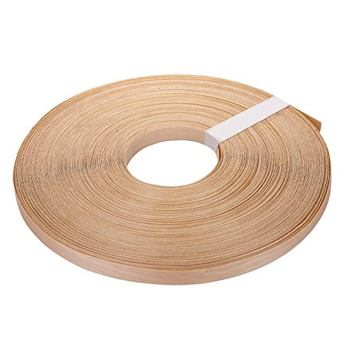 Yarlung 3/4 Inch x 250 Feet Roll Birch Plywood Edge Banding, Preglued Real Wood Veneer Edging, Iron on with Hot Melt Adhesive, Flexible Wood Tape Sanded to Perfection for Furniture Restoration